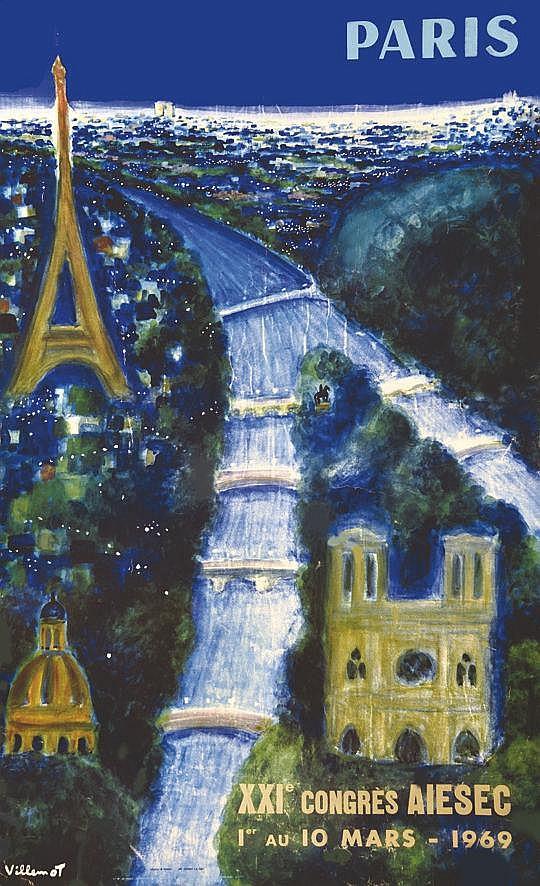 VILLEMOT  Paris - XXI Congrès Aiesec     1969