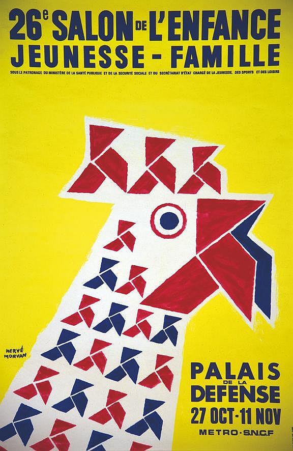MORVAN HERVE  Palais de la Défense - 26e Salon de l'Enfance Jeunesse-Famille     1973