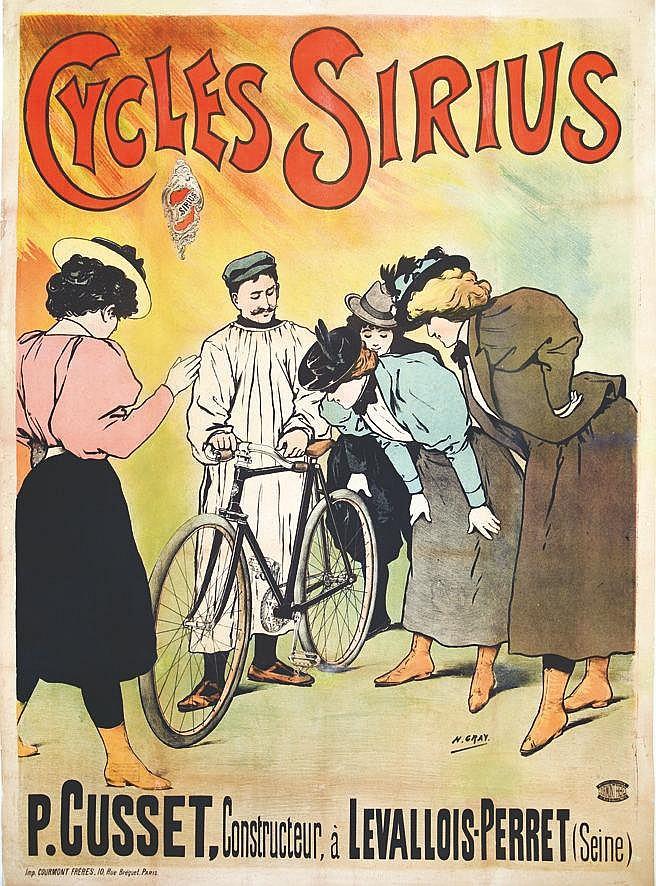 GRAY H.  Cycles Sirius     vers 1900  Levallois Perret (Hauts de Seine)