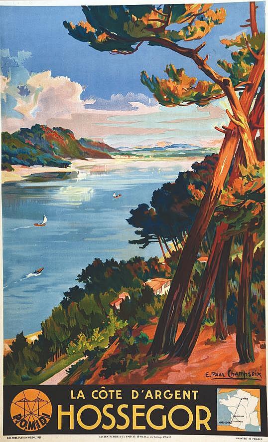 CHAMPSEIX  E. PAUL  Hossegor - La Côte D'argent     1937