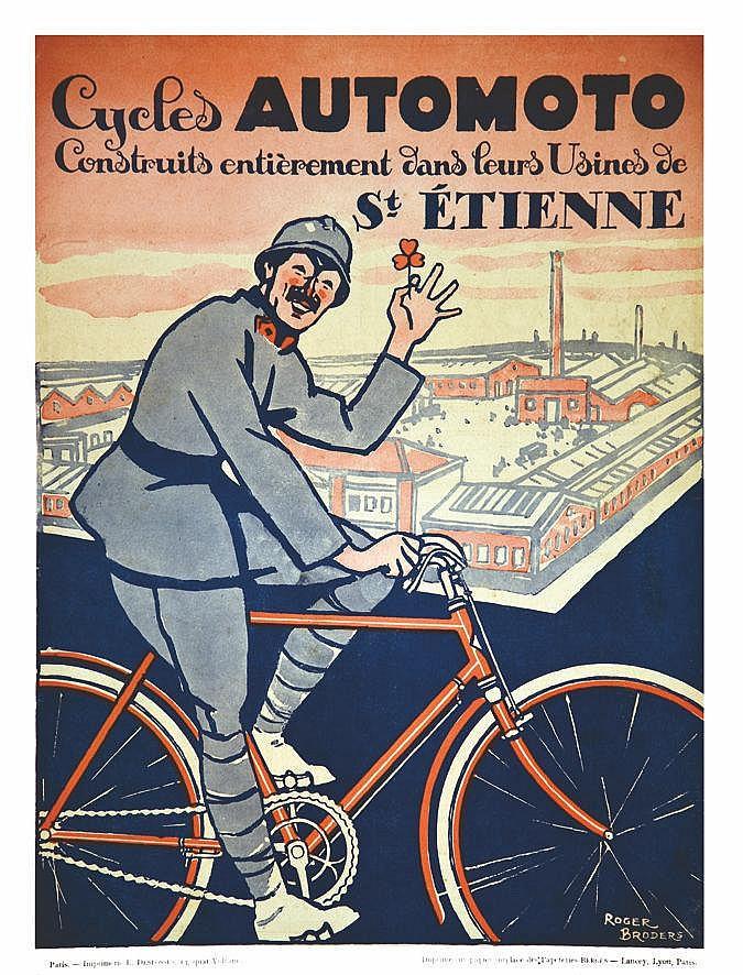 BRODERS ROGER Cycles Automoto vers 1930 Saint Etienne (Loire)