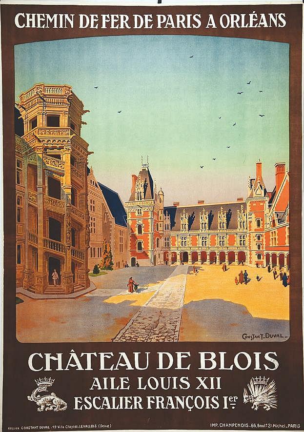 CONSTANT - DUVAL  Chàteau de Blois - Aile Louis XII Escalier François Ier.     vers 1920