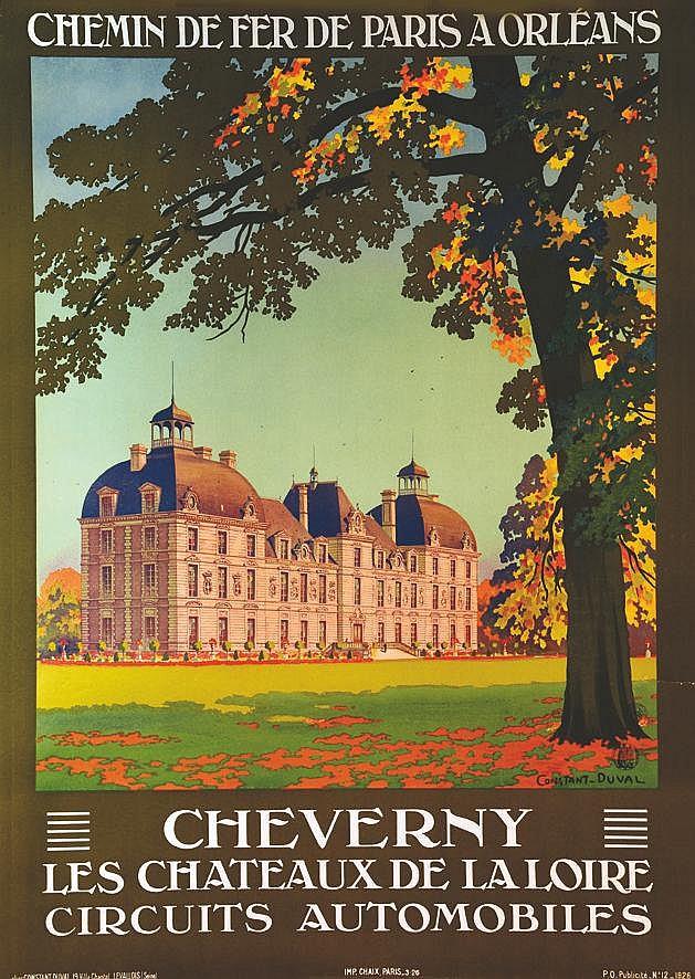 CONSTANT - DUVAL  Cheverny - Les Chateaux de la Loire Circuits Automobiles     1926