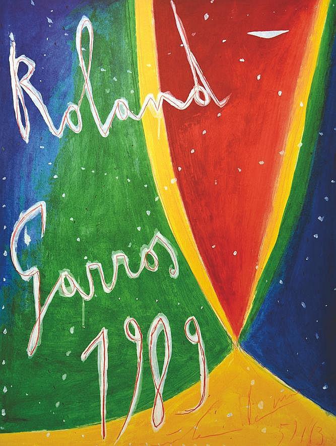 DE MARIA NICOLAS  Roland Garros 1989 signée par Nicolas de Maria et N° 59 / 63     1989