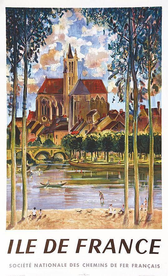 HAMBOURG. ANDRE  Ile de France ( représentation de Meaux )     1958