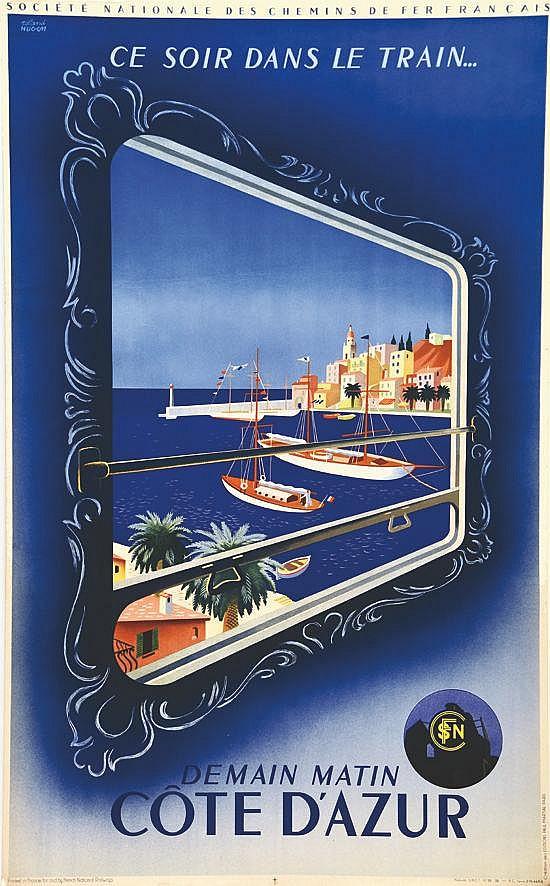 HUGON ROLAND Côte D'Azur - Saint Tropez 1938
