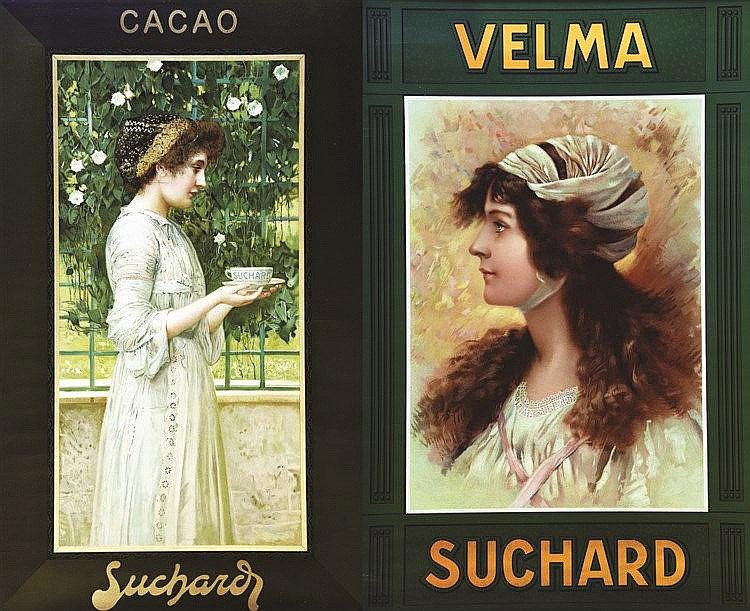 Lot de 2 Affiches / Posters Suchard vers 1900