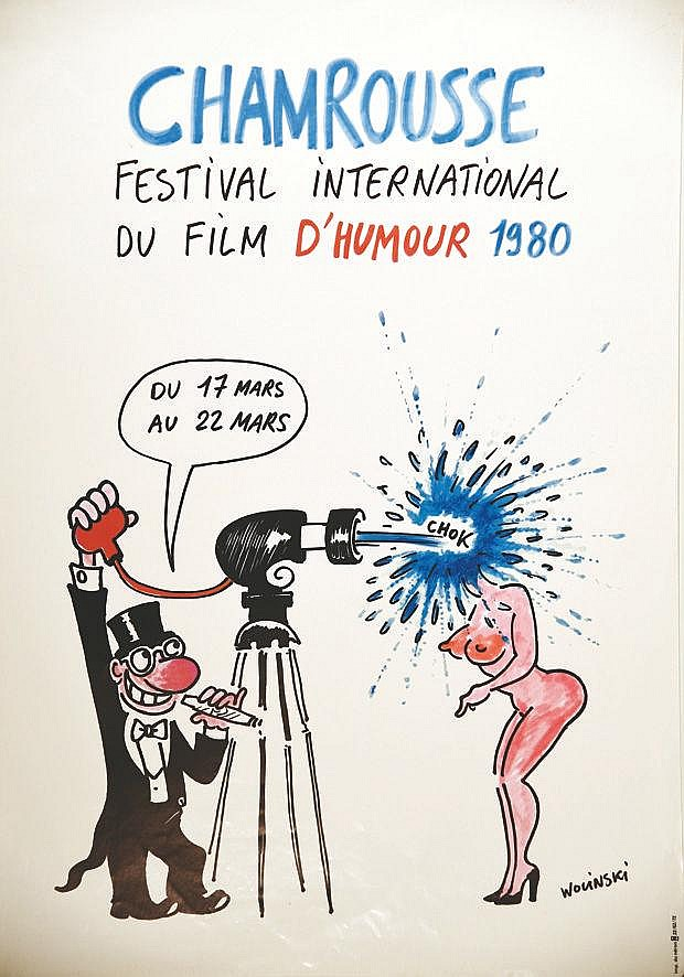 WOLINSKI  Chamrousse - Festival International  du Film d'humour     1980