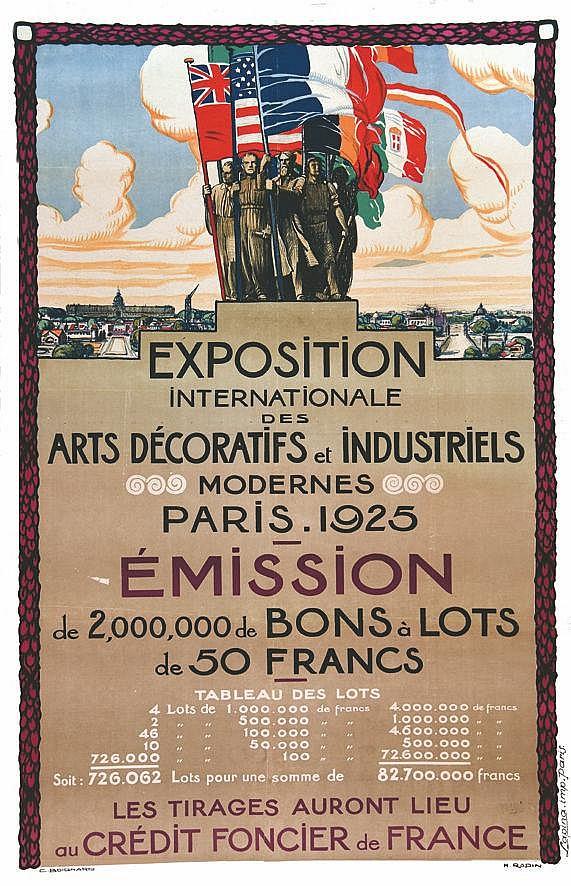 BOIGNARD C. & RAPIN H.  Paris 1925 - Exposition Internationale des Arts Décoratifs et Industriels - Crédit Foncier de France     1925