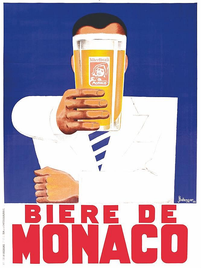 BELLENGER P. Bière de Monaco ( photo avant entoilage ) vers 1930 Monaco