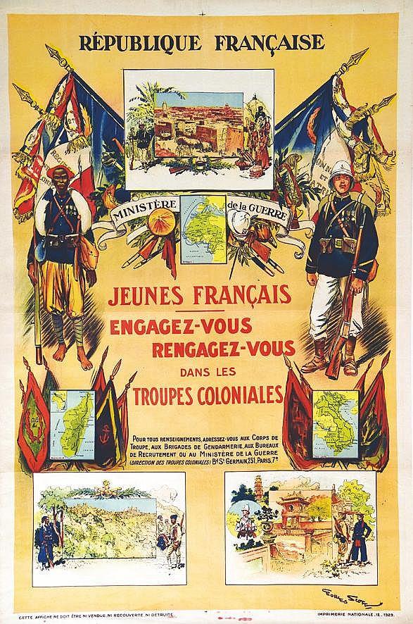 SCOTT GEORGES Engagez vous Réengagez vous dans les Troupes Coloniales 1929