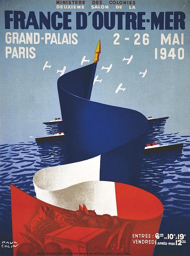 COLIN PAUL France D'Outre-Mer 1940 - Deuxième Salon 1940