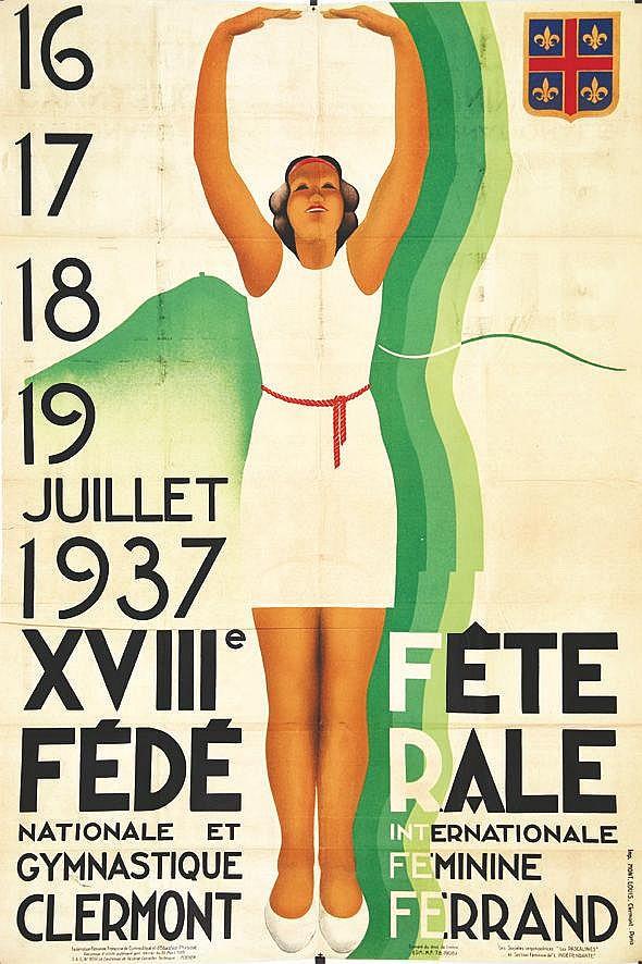 FLORMAY JEAN  Clermont Ferrand - XVIII Fete Fédérale     1937
