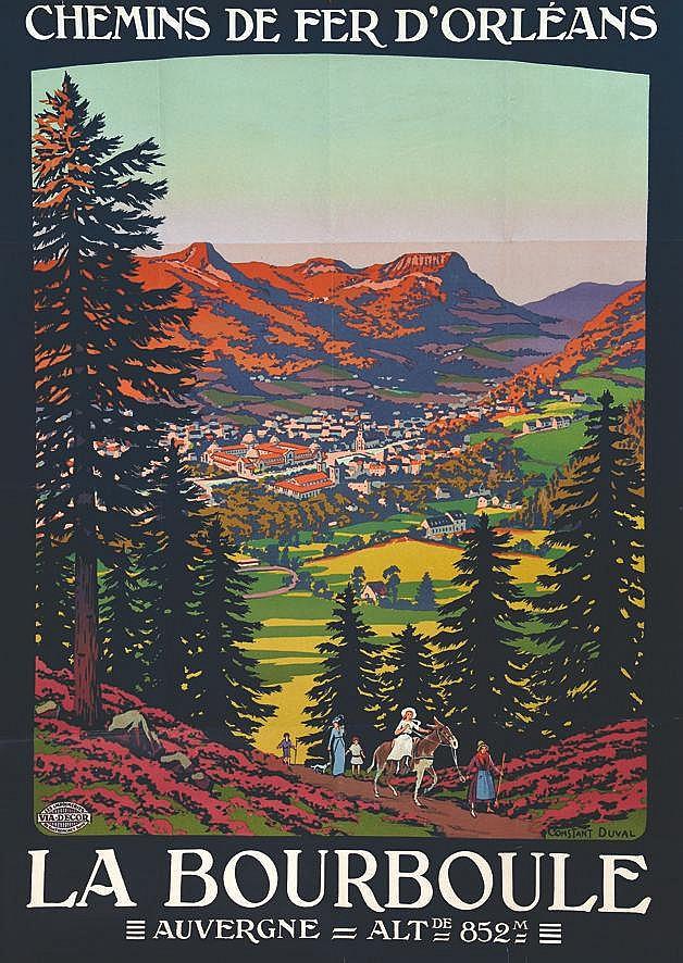 CONSTANT - DUVAL La Bourboule - Auvergne Alt. De 852m chemins de Fer D'Orléans vers 1920