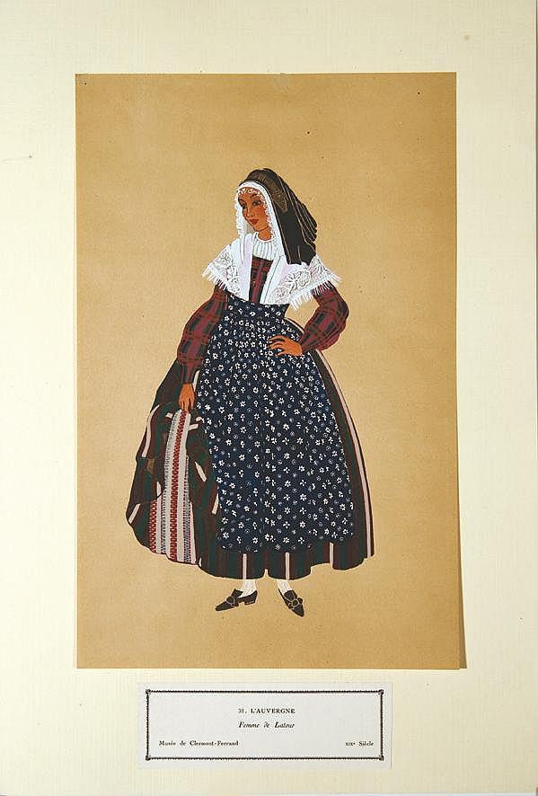 Femme de Latour - L'Auvergne     vers 1900