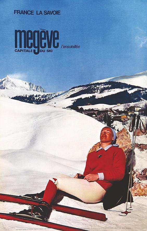 PHOTO : DOUMIC Mégève Capital du Ski 1967