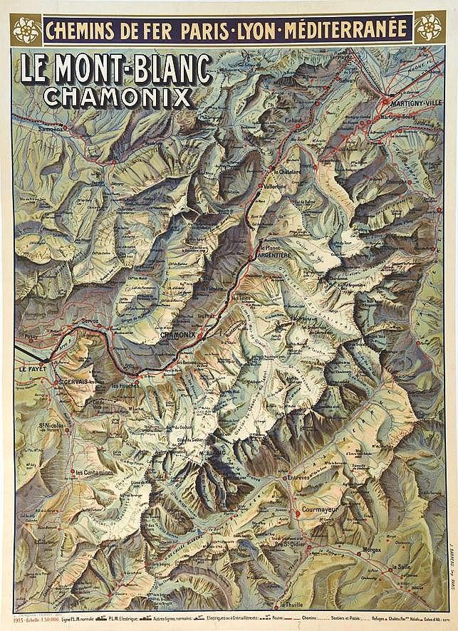 TRINQUIER TRIANON L.  Le Mont-Blanch Chamonix - Chemins De Fer Paris, Lyon,Méditerranée     1913