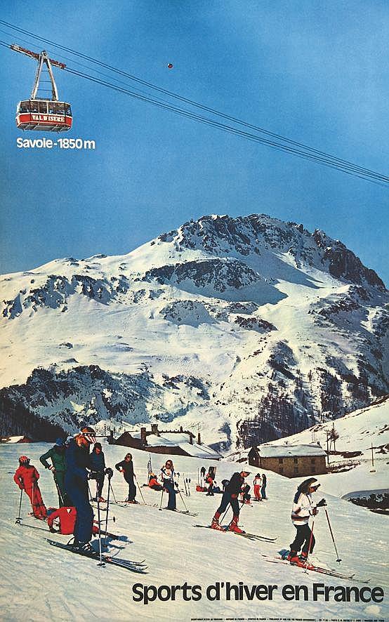 PHOTO : C. M. DIATEC ET C. AVRIL  Val D'Isère - Sports D'hiver en France     vers 1960