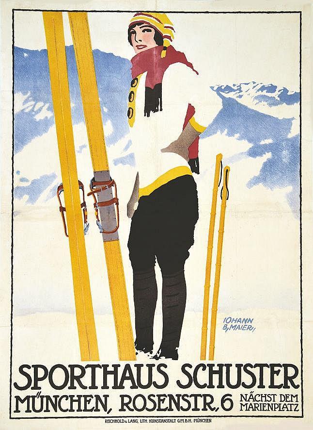 MAIER IOHANN B.  Sporthauss Schuster     vers 1930