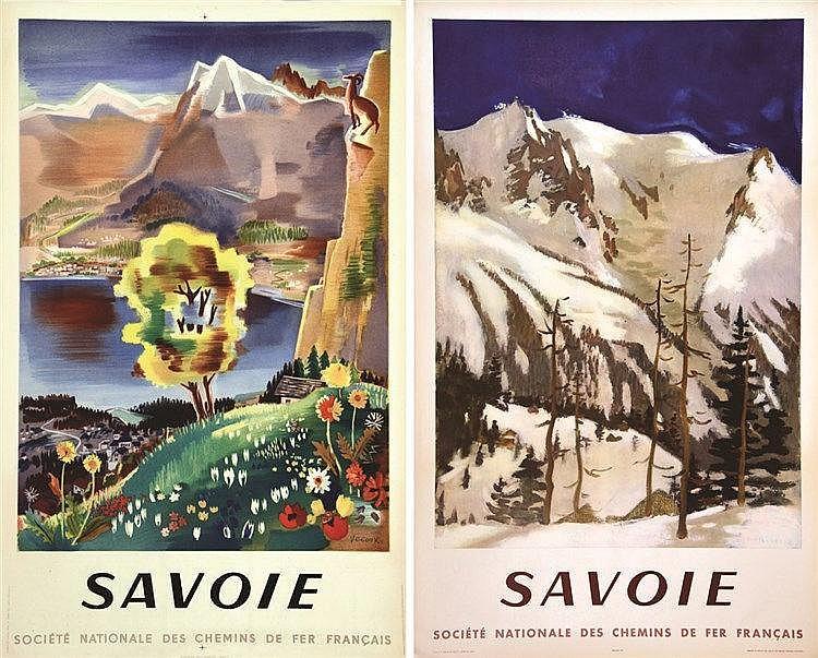 VECOUX FONTANAROSA Lot 2 Affiches Savoie 1946 - 1954 1946 - 1954