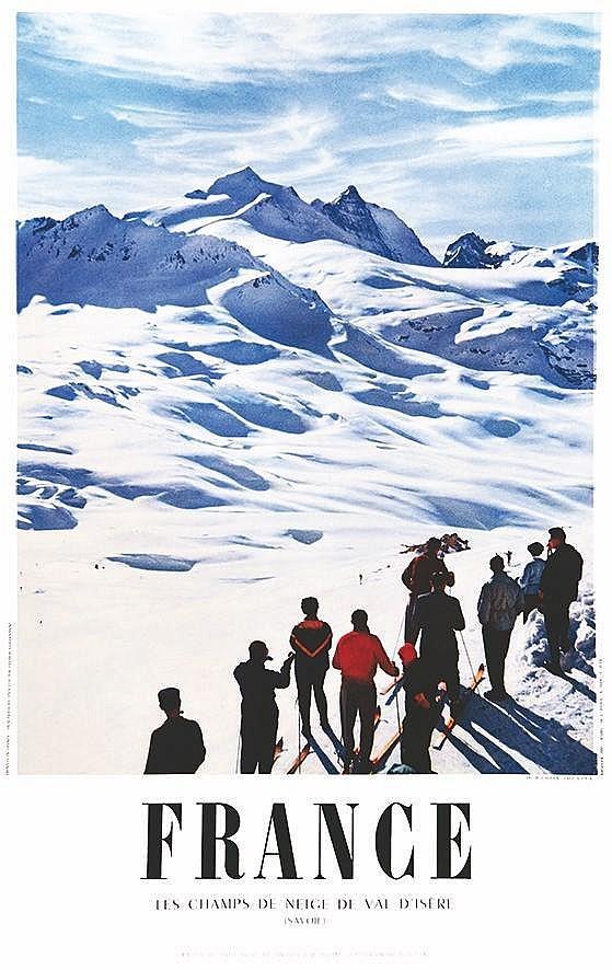 PHOTO : M. CARABIN  Val D'isère Les Champs de Neige     1954