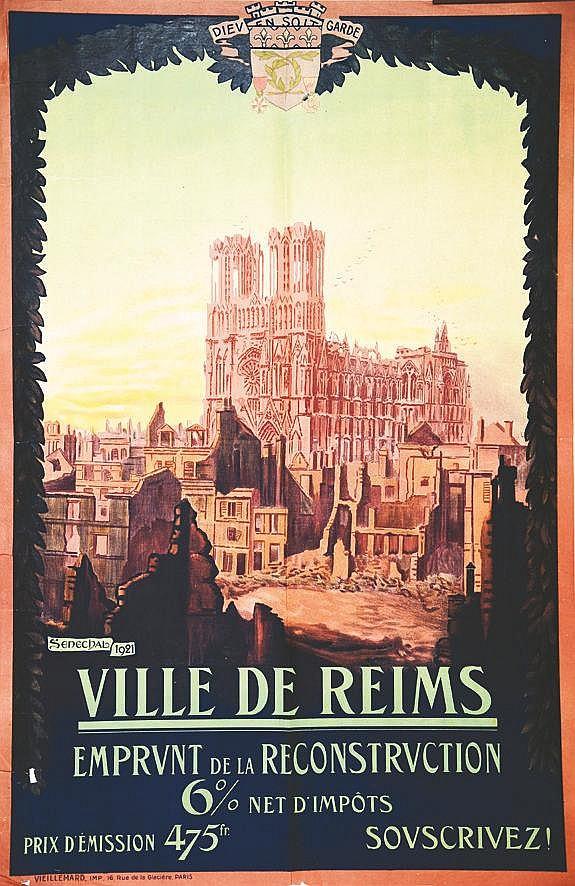 SENECHAL  Ville de Reims - La Cathédrale     1921