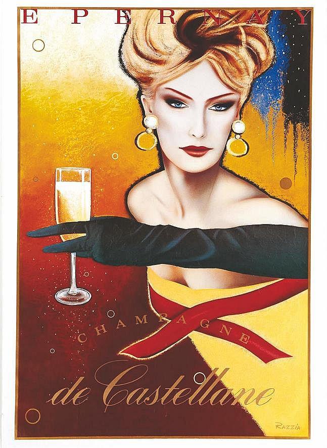RAZZIA Champagne de Castellane vers 1980 Epernay (Marne)