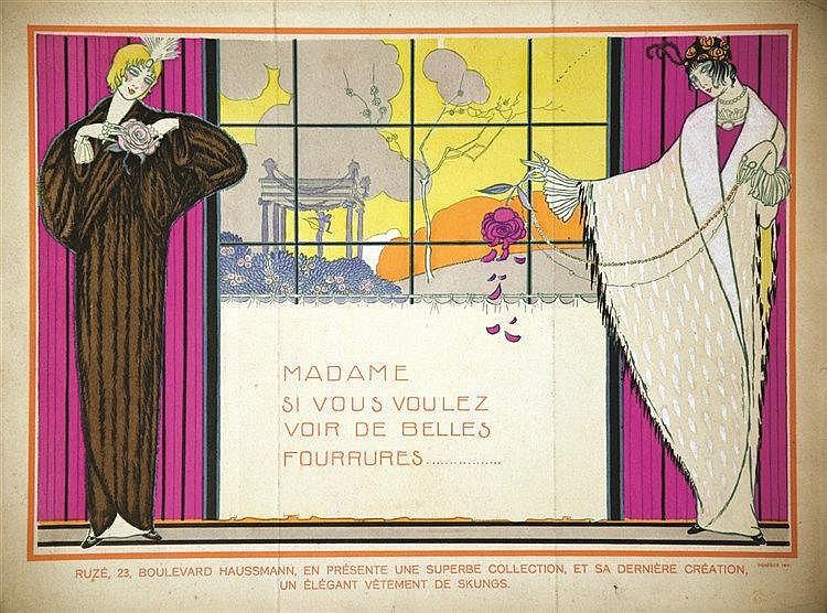Ruzé - Mme si vous voulez voir de belles fourrures… vers 1925