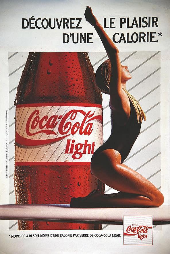 Découvrez le Plaisir d'une Calorie - Coca-Calo Light     vers 1980
