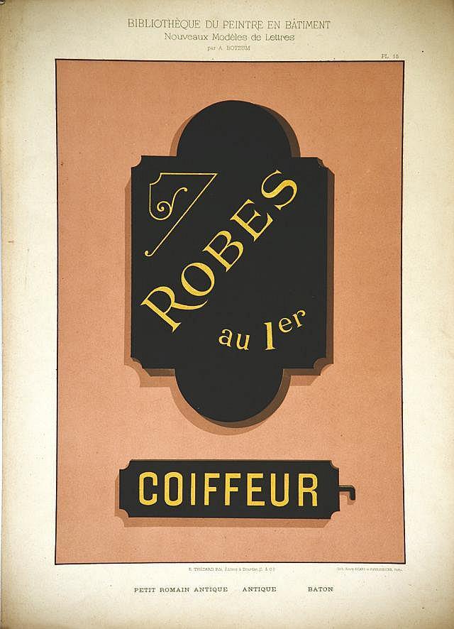 Coiffeur - Robes au 1er vers 1930