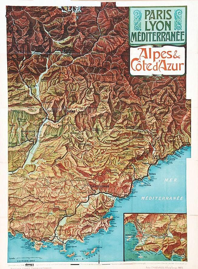 TRINQUIER TRIANON L.  Alpes & Côte d'Azur     1907