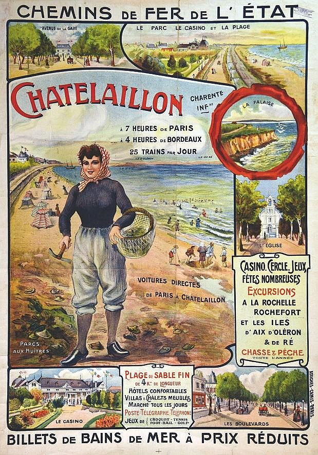 Chatelaillon ( photo avant entoilage )     vers 1900