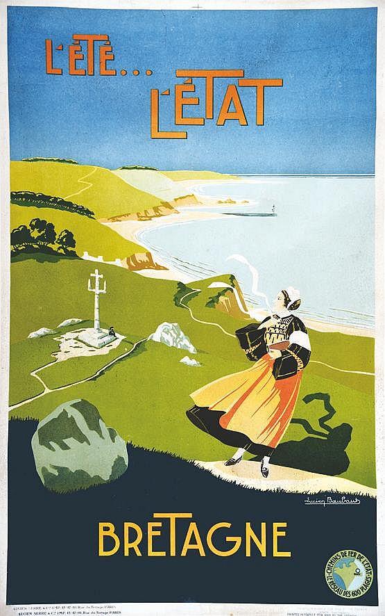 BAUBAUT LUCIEN Bretagne L'Ete L'Etat vers 1930
