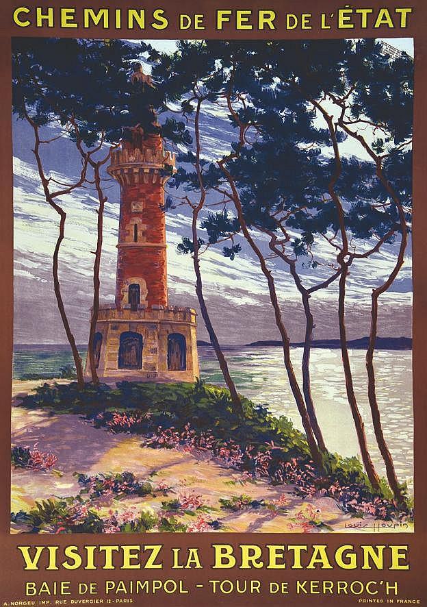 HOUPIN LOUIS Baie de Paimpol - Tour de Kerroc'h - Visitez La Bretagne vers 1920