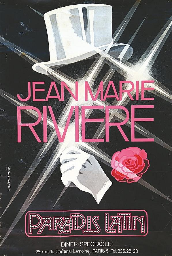 FONTENAU J.M. Paradis Latin Jean Marie Rivière vers 1970