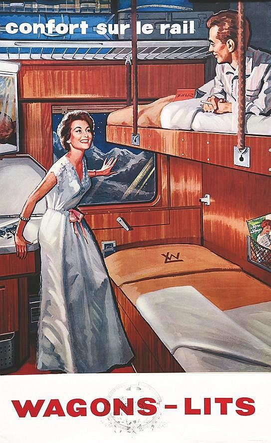 Wagons lits vers 1950