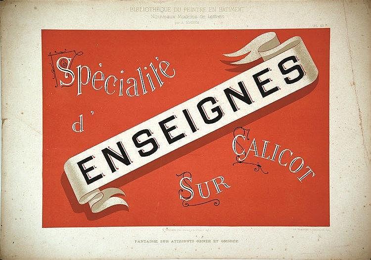 Enseignes - Specialité d' Sur Calicot     vers 1930