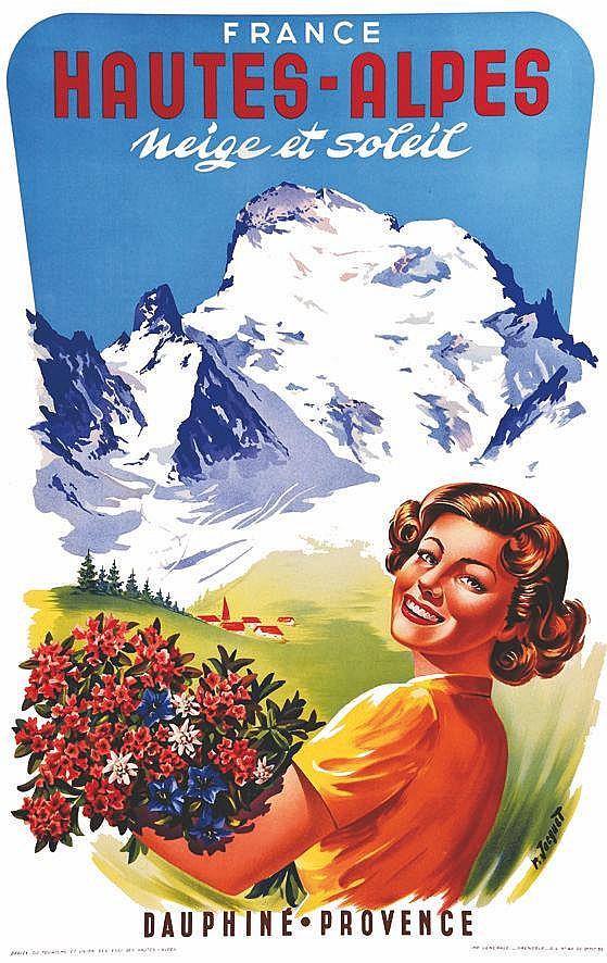JACQUET R. Hautes - Alpes - Neige et Soleil 1952
