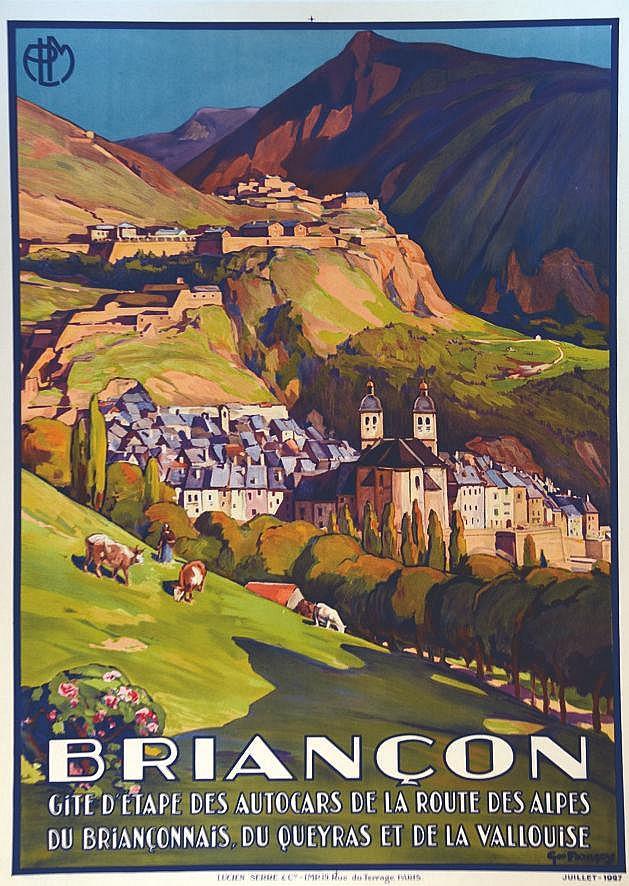 FRANCOIS GEO  Briançon Gîte D'étape des Autocars de la  Route des Alpes     1927