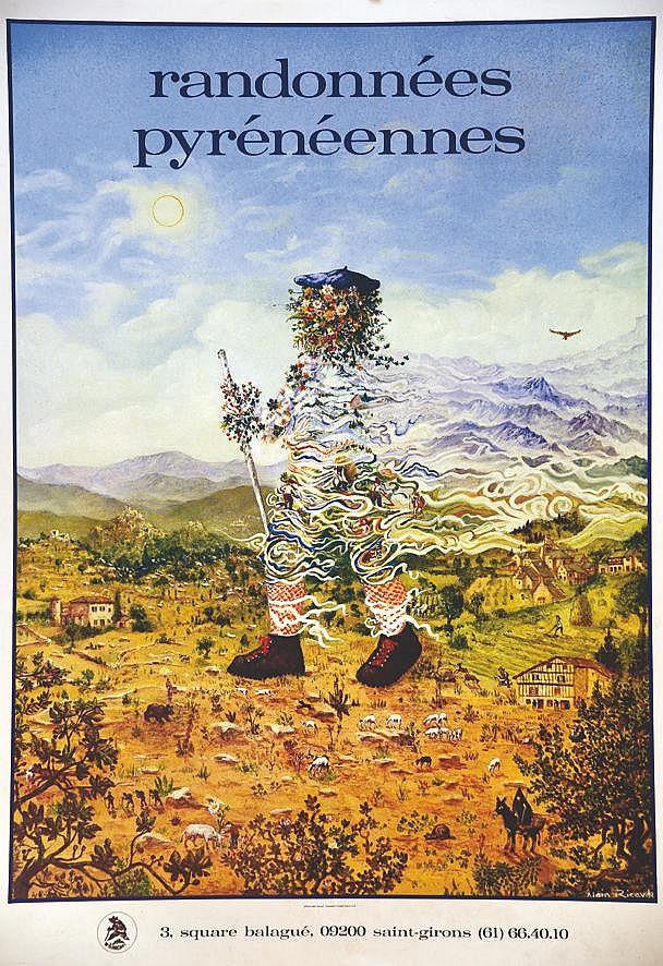 RICAUD ALAIN  Randonnées Pyrénéennes     vers 1980