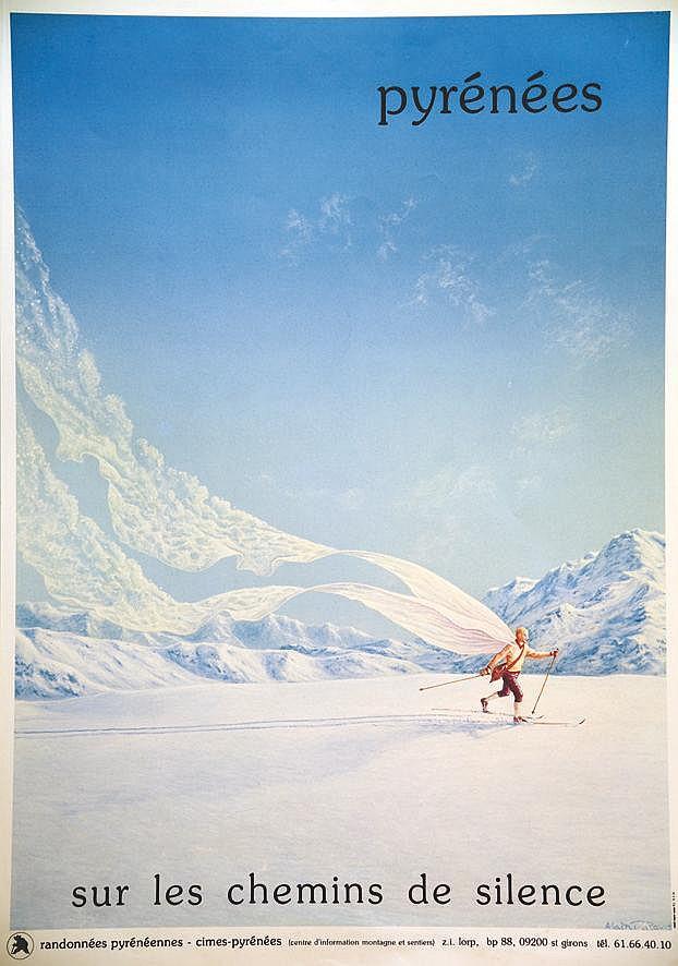 RICAUD ALAIN Pyrénées sur les chemins de silence vers 1980