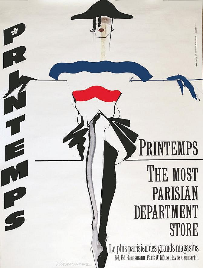 VIRAMONTEZ  Le Printemps - The Most Parisian Department Store     vers 1980