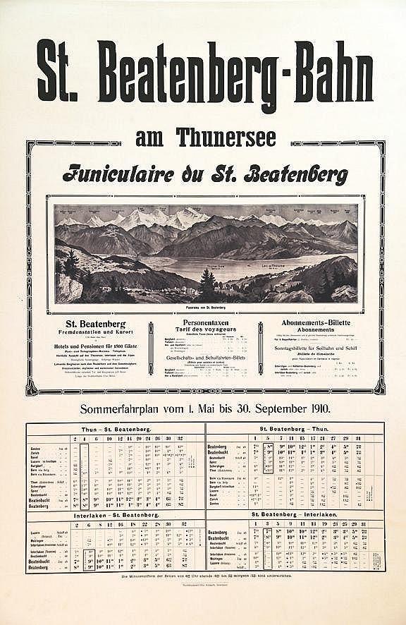 Finiculaire du St. Beatenberg - St. Beatenberg - Bahn     1910