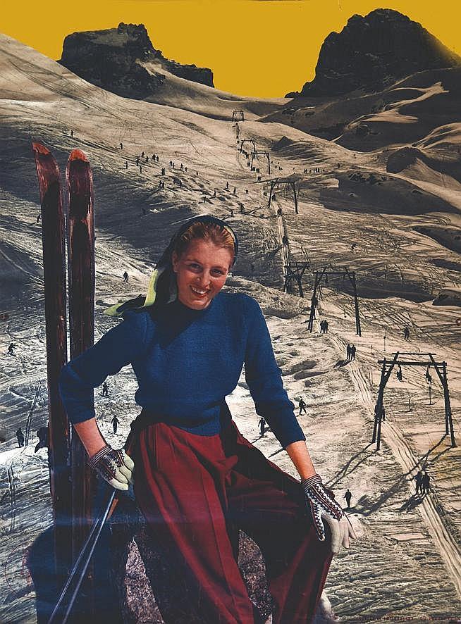 Jeune Femme à ski     vers 1950