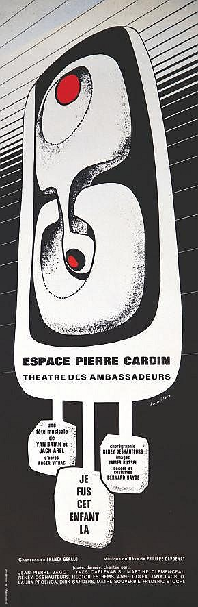 CANTE-PACOS François d'après  Espace Pierre Cardin. Théatre des Ambassadeurs. Je suis cet enfant là     vers 1960