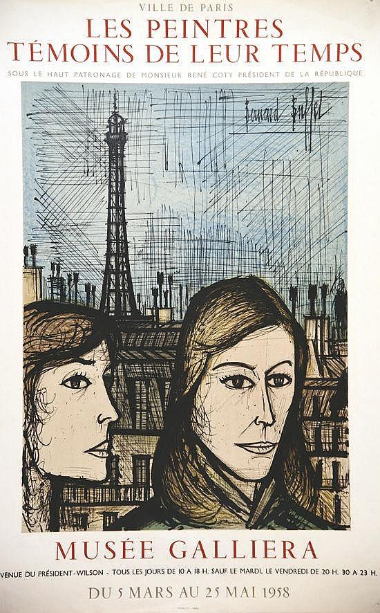 BUFFET BERNARD Les Parisiennes Les Peintres Témoins de leur Temps 1958