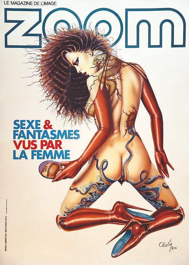 OLIVIA  Zoom Le Magazine de l'Image Sexe & Fantasme vu par La Femme     1985