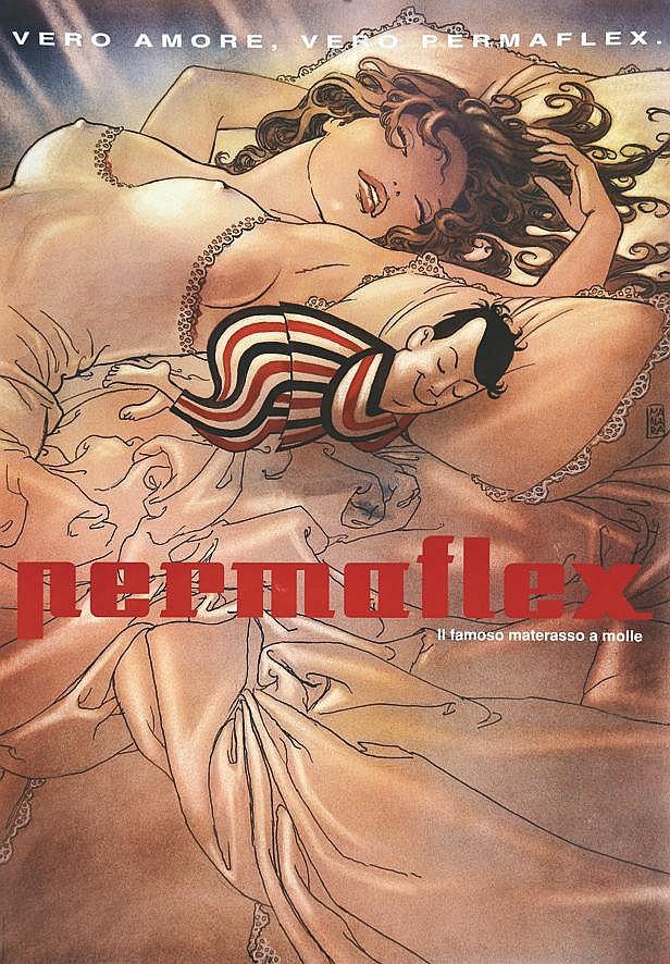 MANARA Permaflex - Vero amore, vero Permaflex. il famoso materasso a molle vers 1980