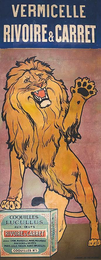 Vermicelle -  Rivoire & Carret  (Lion ) - Lustucru     vers 1900  Marseille (Bouches du Rhône)