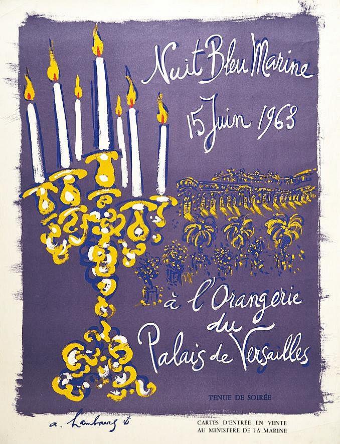 HAMBOURG. A Versailles L'orangerie Nuit Bleu Marine 1963